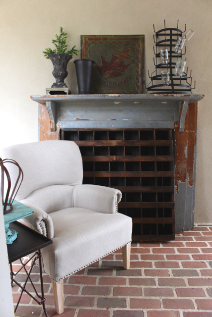 Get the look of - antique mantel from Vintage American Home.com