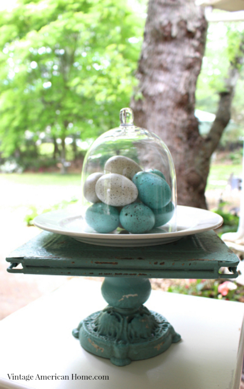 Glass cloche from Vintage American Home $22