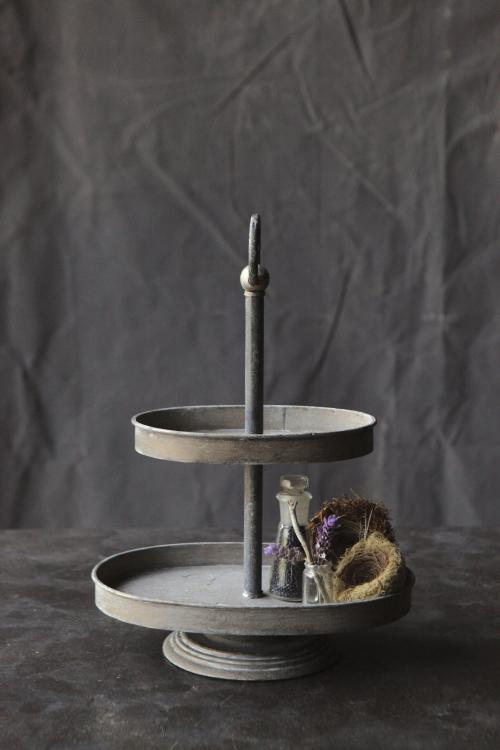 Zinc tiered Stand -