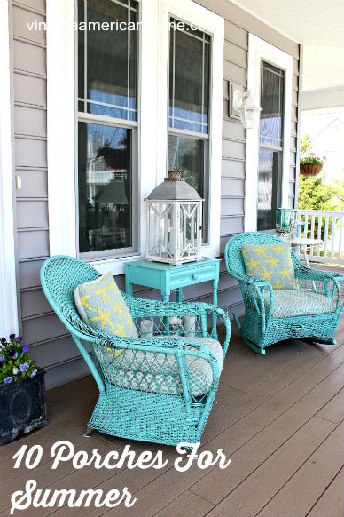Vintage American Home Front Porch