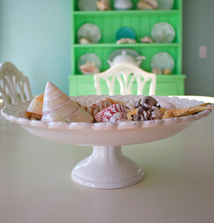 Easy Beach themed decorating ideas from Vintage American Home blog