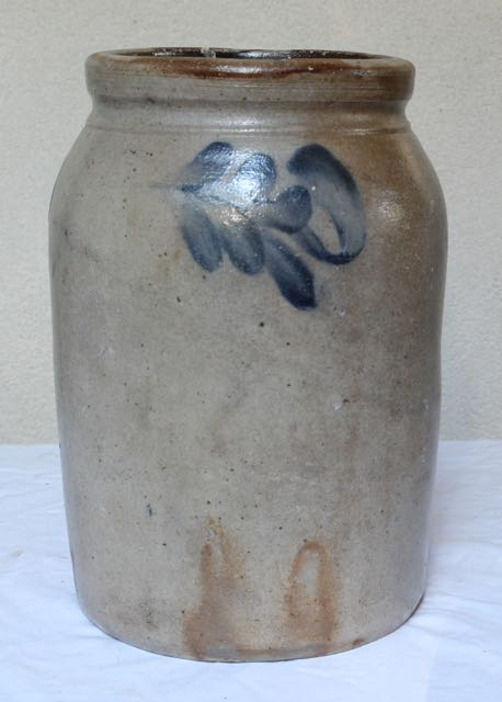 Antique stoneware crock at Vintage American Home
