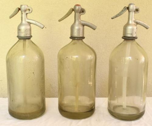 Set of three European Seltzer Bottles only $65