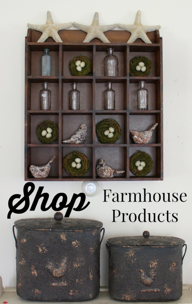 Shop Farmhouse Products to get the items you need for your fixer upper.