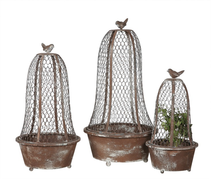Bird cage Topiaries to decorate your fixer upper or farmhouse. Also go well with French Country style at Vintage American Home.