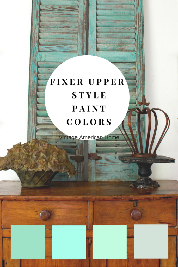 Fixer upper paint colors for farmhouse interiors from vintage american home blog